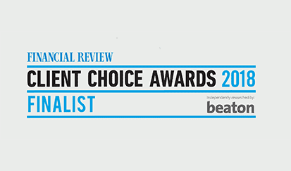 Allan Hall excels again as finalist in the Financial Review Client Choice Awards for 2018