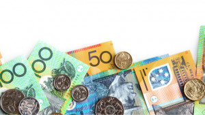 Australian currency dollars and coins