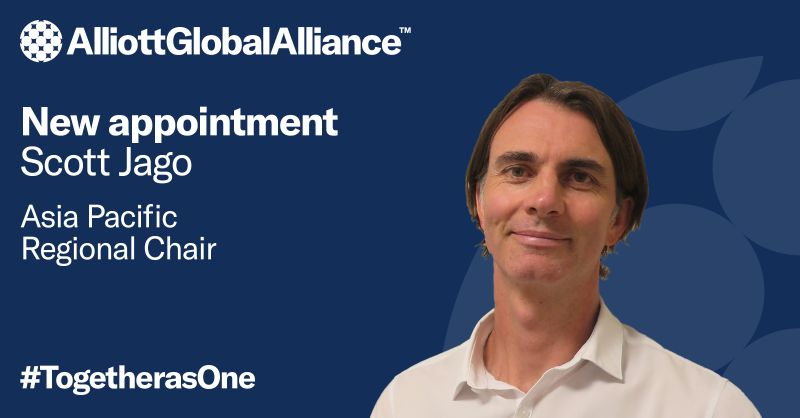 Scott Jago appointed Alliott Global Alliance's Asia Pacific Regional Chair