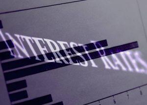 interest rates overlaid onto graph